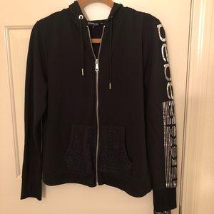 BEBE Sport metallic embellished hoodie
